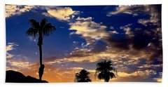 Beach Towel featuring the photograph Paradise Palm Springs by Chris Tarpening