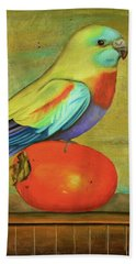 Parakeet On A Persimmon Beach Towel