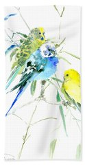Parakeets Beach Sheet by Suren Nersisyan