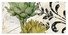 Paris Artichokes Beach Towel by Mindy Sommers