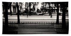 Paris Bench Beach Sheet