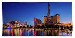 Paris Casino At Dawn 2 To 1 Ratio Beach Towel