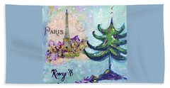 Paris Christmas Beach Towel