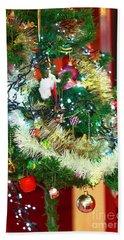 Paris Christmas Tree Beach Sheet