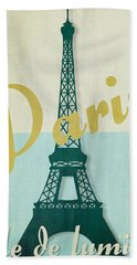 Paris City Of Light Beach Sheet by Mindy Sommers