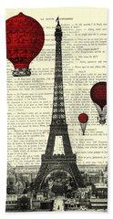 Paris, City Of Love Beach Towel