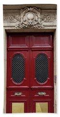 Paris Doors No. 17 - Paris, France Beach Towel by Melanie Alexandra Price
