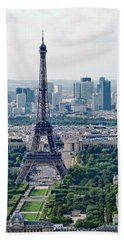 Paris France Beach Towel