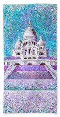 Beach Towel featuring the mixed media Paris II by Elizabeth Lock