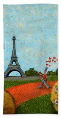 Paris Je T Aime Beach Sheet