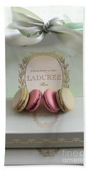 Paris Laduree Mint Box Of Macarons - Paris French Laduree Macarons  Beach Towel
