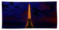 Paris Lights Beach Towel