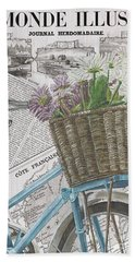 Paris Ride 1 Beach Towel by Debbie DeWitt