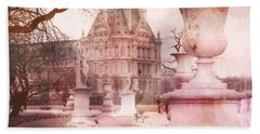 Paris Tuileries Park Garden - Jardin Des Tuileries Garden - Paris Tuileries Louvre Garden Sculpture Beach Sheet by Kathy Fornal