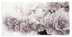 Paris Vintage Style Peonies Art - Paris Romantic French Lavender Pink Peonies Beach Towel