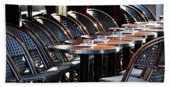 Parisian Cafe Terrace Beach Sheet
