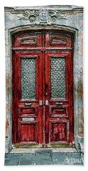 Parisian Door No.14 Beach Towel