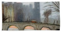 Beach Towel featuring the painting Parisian Gray by Gary Coleman