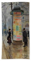 Beach Towel featuring the photograph Parisian Street Scene by John Stephens