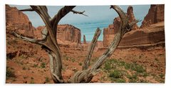 Beach Towel featuring the photograph Park Avenue by Gary Lengyel