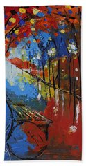 Park Bench Beach Towel by Gary Smith