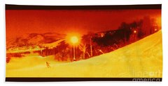 Beach Towel featuring the photograph Park City Gold by Richard W Linford