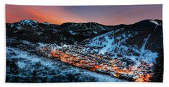 Park City Winter Sunset Beach Sheet