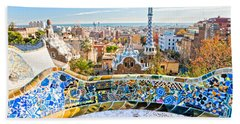 Beach Sheet featuring the photograph Park Guell Barcelona by Luciano Mortula