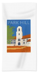 Park Hill Blue Beach Towel
