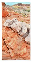 Beach Towel featuring the photograph Park Road Sandstone In Valley Of Fire by Ray Mathis