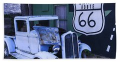 Parked Blue Truck Beach Towel by Garry Gay