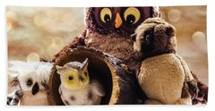 Parliament Of Owls Beach Towel