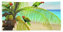 Parrot Beach Beach Towel