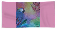 Parrot In Paradise Beach Towel