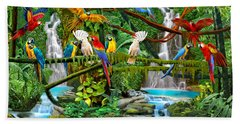 Parrots In Paradise Beach Towel