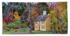 Parson Barnard House In Autumn Beach Towel