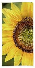 Part Of A Sunflower Beach Towel