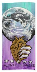 Beach Towel featuring the painting Partakers Of His Heart by Nathan Rhoads