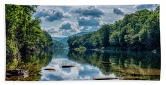 Partially Cloudy Gauley River Beach Towel