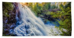 Partridge Falls In Late Afternoon Beach Towel