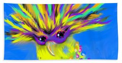 Beach Towel featuring the digital art Party Animal by Jean Pacheco Ravinski