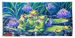 Party At The Pad Beach Towel by Gail Butler