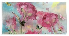 Party In The Posies Beach Towel by Diana Boyd