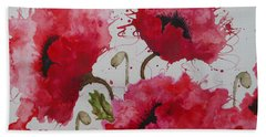 Party Poppies Beach Towel