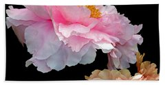 Pas De Deux Glowing Peonies Beach Towel