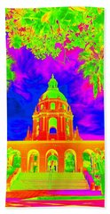 Pasadena City Hall In Vibrant Color 1 Beach Towel by Karen J Shine