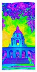 Pasadena City Hall In Vibrant Color 2 Beach Sheet by Karen J Shine