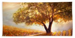 Paso Robles Golden Oak Beach Towel by Michael Rock