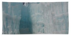 Passageway In The Ice Castle Beach Towel by Catherine Gagne