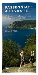 Passeggiate A Levante - The Book By Enrico Pelos Beach Sheet